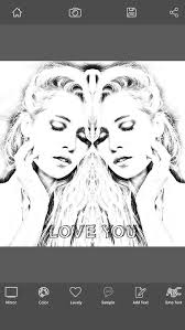 photo editor sketch edit your image with mirror sketch effect