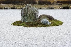 zen stone garden at ryoanji temple kyoto u2014 stock photo arrxxx