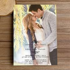 wedding invitations with pictures unique photo wedding invitations online