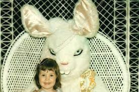 big easter bunny 19 vintage easter bunny photos that will make your skinâ crawl