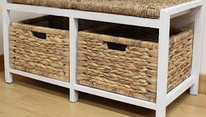 Storage Bench With Cushion Bench Resin Wicker Storage Bench Wicker Storage Bench With