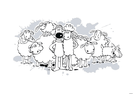 shaun the sheep colouring pages funycoloring