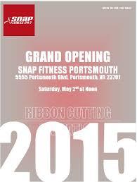 grand opening ribbon grand opening ribbon cutting snap fitness portsmouth member news