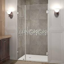 38 Shower Door Aston Nautis Gs 38 In X 72 In Frameless Hinged Shower Door In