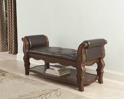 Fabric Bench For Bedroom Agreeable Design Ideas Using Rectangular Brown Rugs And Cream