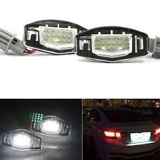 2001 honda civic tail lights 2pcs 18 led license plate lights l for honda civic 2001 2002 2003
