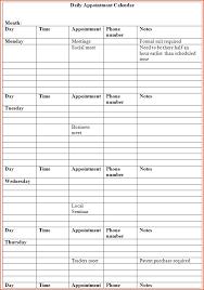 6 daily calendar template bookletemplate org