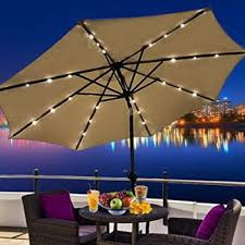 Led Patio Umbrella by Rooftop Patio With Bottom Led Lighting Patio Design Ideas 1761