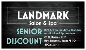 senior hair cut discounts landmark salon spa