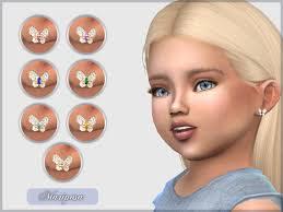 toddler earrings mariposa earrings by giulietta sims sims 4 nexus