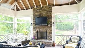 Screened In Patio Designs Here Are Screened Patio Ideas Minimalist Exposed White Rafters