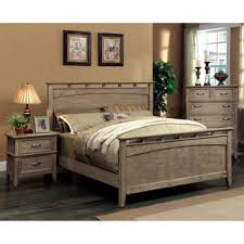 furniture of america shoreline weathered oak 2 drawer nightstand