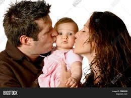 mom dad kissing cute baby image u0026 photo bigstock
