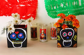 day of the dead decorations day of the dead diy chalkboard vases by claudya