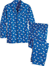 mens snoopy and woodstock pjs cotton broadcloth pajamas