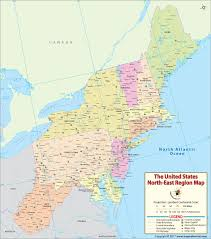 map of northeast us states with capitals northeast region map us map of northeastern states and cities