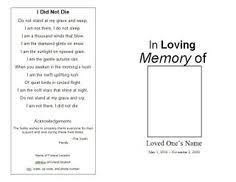 printable funeral programs memorial funeral bulletins simple printable