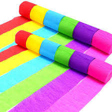 crepe paper streamers bulk coceca 24 rolls crepe paper streamers 6 colors for birthday party