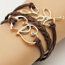 leather ladies bracelet images Handmade braided fashion jewelry leather bracelet men anchor jpg