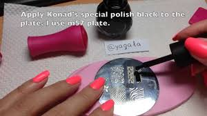 stamping nail art step by step tutorial youtube