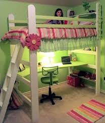 catchy girls loft bed plans and ana white how to build a loft bed