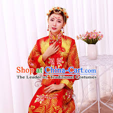 ancient chinese costume xiuhe suits chinese style wedding dress