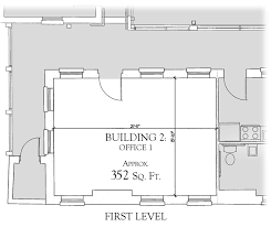 the floor plan of building 2 the ancillary dependency of fort