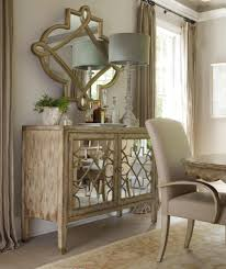 sanctuary two door mirrored console by hooker furniture door