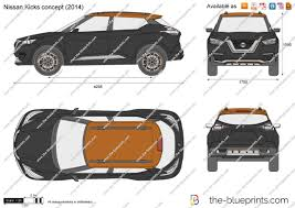 nissan kicks 2017 blue the blueprints com vector drawings drawing sets