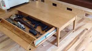 Wood Coffee Table Plans Free by Qline Safeguard Coffee Table With Hidden Compartment Youtube