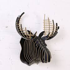 buy wooden sculptures wall hanging wooden crown stag 3d puzzle 5mm home wall decor