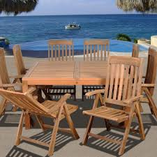 Dining Patio Set Canada  Tpp Park Terrace  Piece Patio Dining - Teak dining room chairs canada