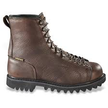 mc boots guide gear men u0027s waterproof insulated leather lace to toe hunting
