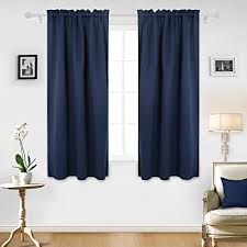 Room Darkening Curtain Rod Deconovo Room Darkening Curtain Rod Pocket Curtain