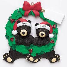 two peas in a pod christmas ornament black wreath 2 personalized christmas ornament