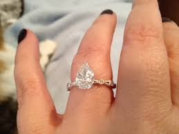 pear engagement ring real engagement rings pear marquise diamonds weddingbee