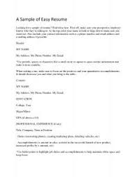 Easy Resume Sample by Examples Of Resumes Curriculum Vitae Example Canada Great Resume