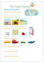 downloadable holiday booking form dramatic play travel agency