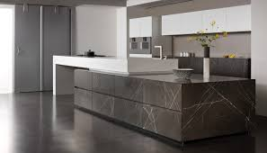 Contemporary Kitchen Contemporary Kitchen Stone Corian Island Grafite Brown