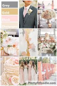 wedding colors of grey gold blush and champagne post your