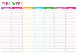 Weekly Calendar Template Excel Free Printable Weekly To Do List Weekly Planner Printable