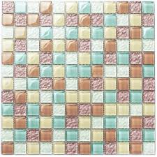 Cutting Glass Tiles For Backsplash by Tst Crystal Glass Tiles Multi Color Chips Kitchen Chocolate Mosaic