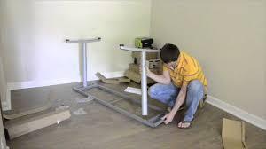 Ikea Standing Desk Galant by Assembling Ikea Furniture Galant Desk Youtube