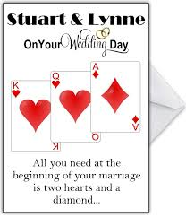 funny personalised wedding card
