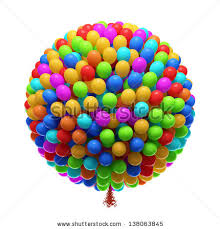 bunch of balloons big bunch party balloons isolated on stock illustration 138063845