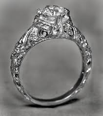 platinum vintage rings images Buy a hand made hand engraved vintage diamond engagement ring jpg