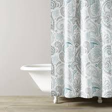 Turquoise Paisley Curtains Paisley Shower Curtain Kassatex