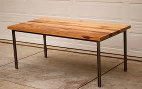 Salvaged Wood Dining Room Tables Rectangular Reclaimed Wood Dining Table With Metal Legs Of