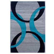 Area Rugs Turquoise Linon Corfu Collection Grey Turquoise Area Rug 8 X 10 3 8 X