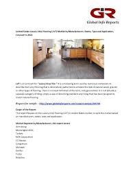 luxury vinyl flooring lvt market global industry analysis size